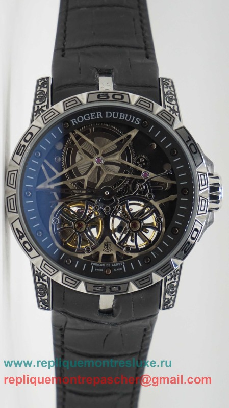 Roger Dubuis Automatique Double Tourbillon Skeleton RDM46